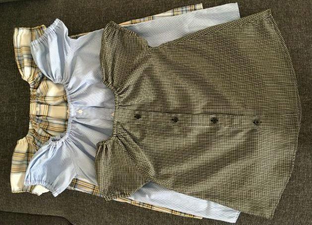 skjorte til børnekjole, peasant dress